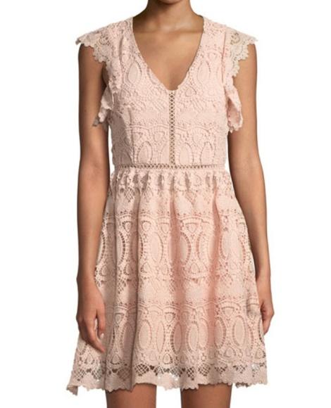 48fa077fe1cba J.O.A. Dresses | Joa Crochet Lace Mini Fit And Flare Dress | Poshmark